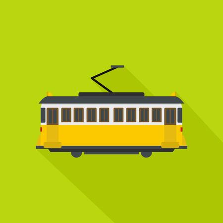 Tram icon. Flat illustration of tram vector icon for web Illustration