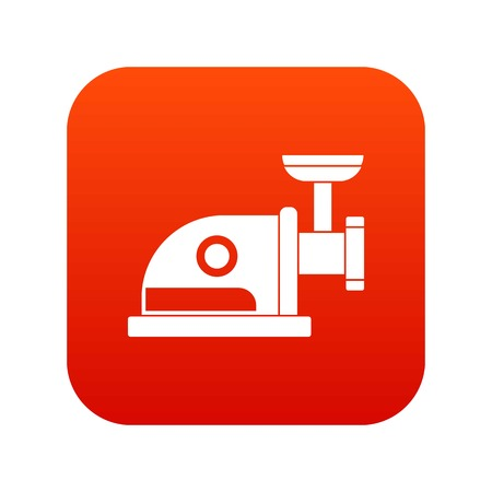 meat grinder: Electric grinder icon digital red for any design isolated on white vector illustration
