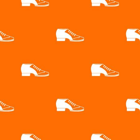 Tango shoe pattern repeat seamless in orange color for any design. Vector geometric illustration