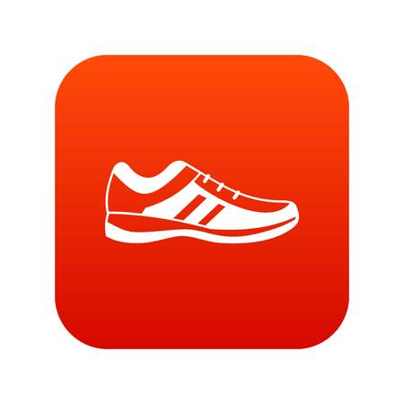 Men sneakers icon digital red for any design isolated on white vector illustration Illustration