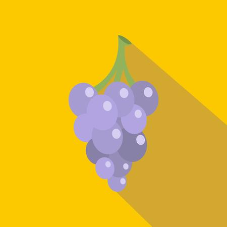 concord: Grape icon. Flat illustration of grape vector icon for web Illustration