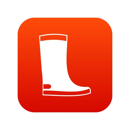 Rubber boots icon digital red for any design isolated on white vector illustration