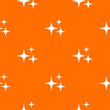 meteorite: Stars pattern repeat seamless in orange color for any design. Vector geometric illustration Illustration