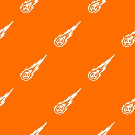devastation: Meteorite pattern repeat seamless in orange color for any design. Vector geometric illustration Illustration