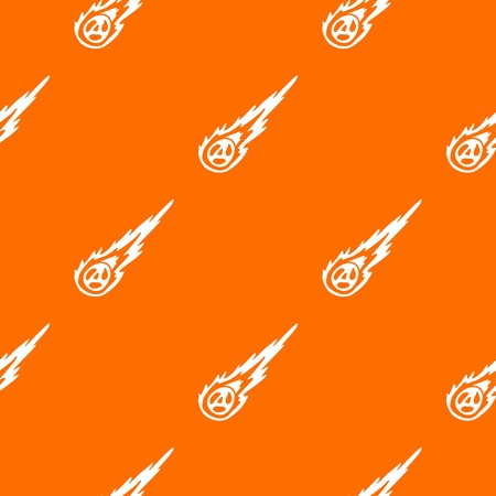 Meteorite pattern repeat seamless in orange color for any design. Vector geometric illustration Illustration