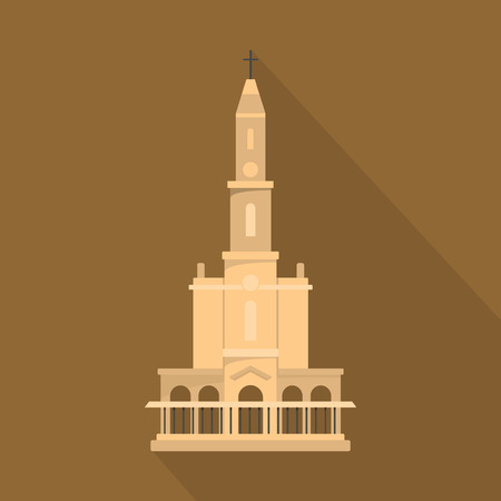 Big castle icon. Flat illustration of big castle vector icon for web Illustration