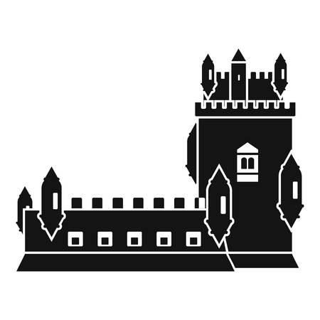 History castle icon. Simple illustration of history castle vector icon for web Illusztráció