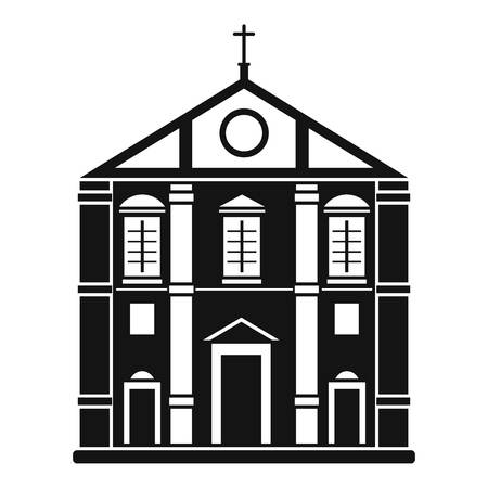 Church icon, simple style
