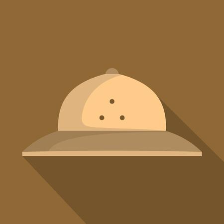 Cork helmet icon. Flat illustration of cork helmet vector icon for web Reklamní fotografie - 88430970