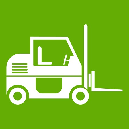 excavation: Forklift icon green