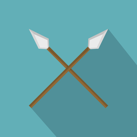 Spear icon, flat style