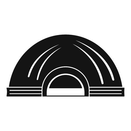 Aboriginal dwelling icon, simple style Illustration