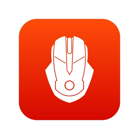 Computer mouse icon digital red