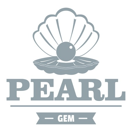 mussel: Pearl gem simple gray style