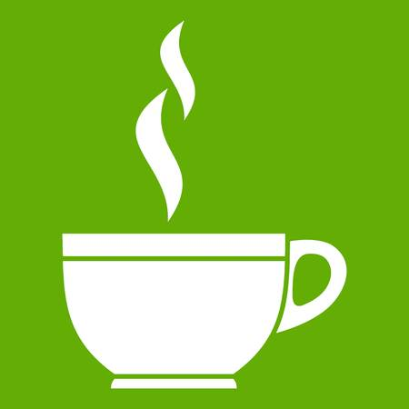 Glass cup of tea icon green
