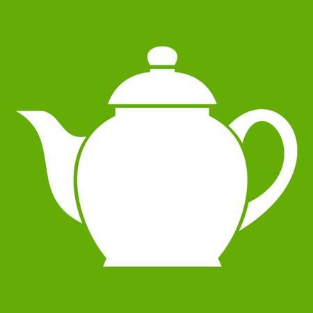 modern kitchen: Teapot icon green