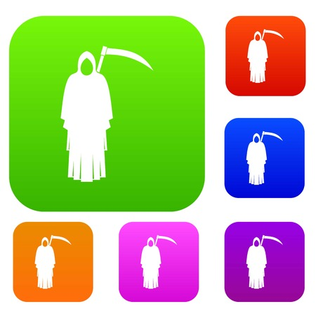 Death with scythe set color collection Stock Vector - 88479566