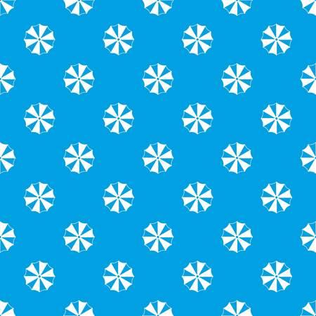 Striped umbrella pattern seamless blue