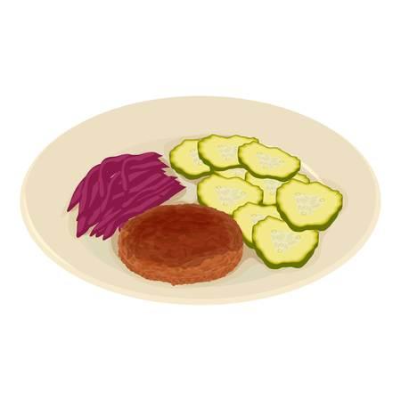 Ikona obiad, styl izometryczny Ilustracje wektorowe