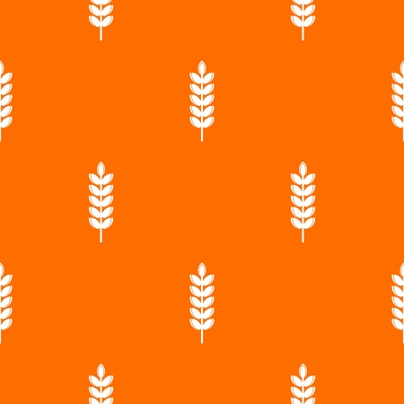 Big grain spike pattern repeat seamless in orange color for any design. Vector geometric illustration Illustration
