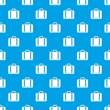Suitcase pattern repeat seamless in blue color for any design. Vector geometric illustration