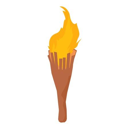 Torch icon, isometric style Illustration