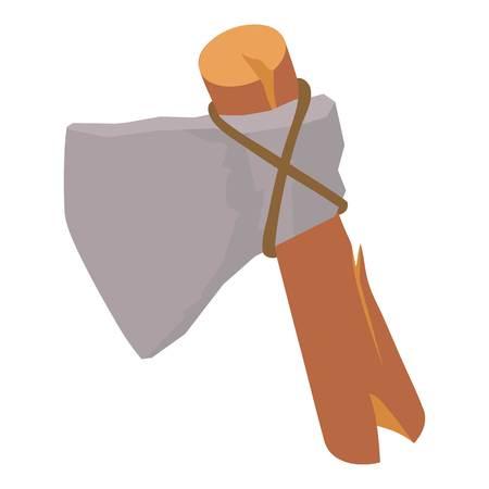 Stone axe icon. Isometric illustration of stone axe vector icon for web Illustration
