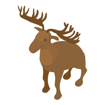 Deer icon. Isometric illustration of deer vector icon for web Illustration