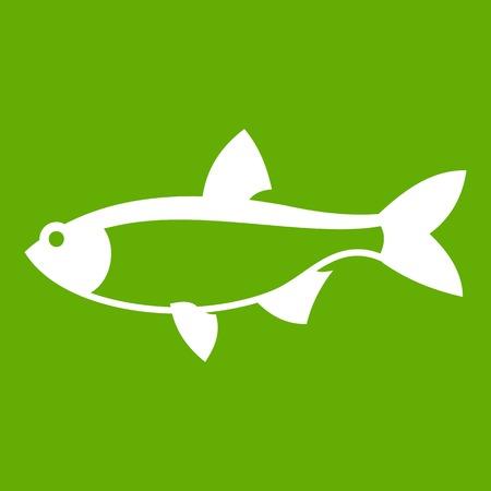 Rudd fish icon green