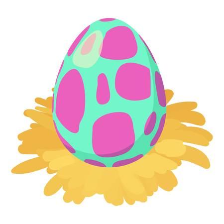 Dinosaur egg icon, isometric style Illustration