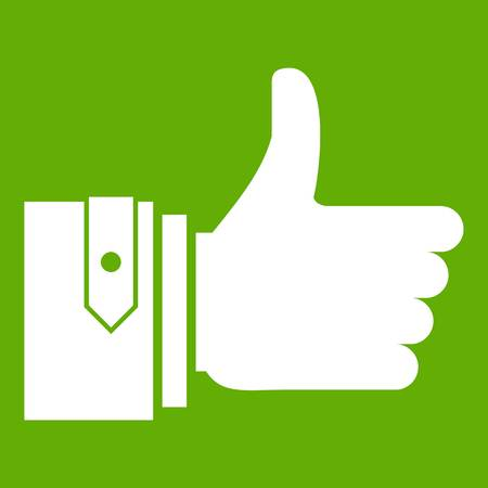 Thumbs up icon green