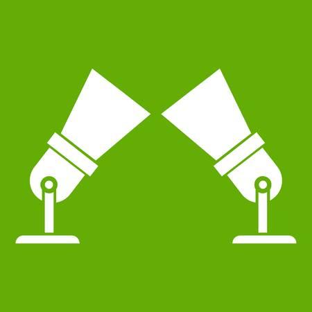 Flutlicht-Symbol grün