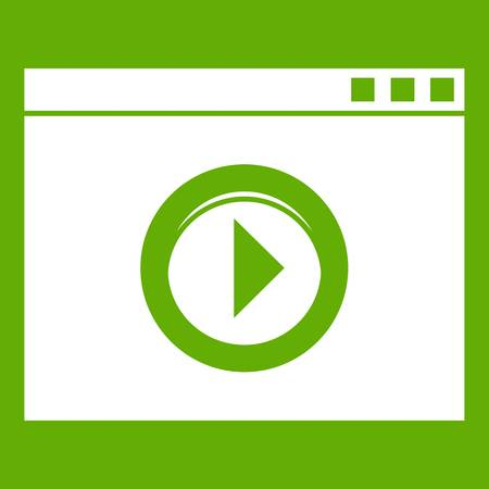 Video player icon green Illustration