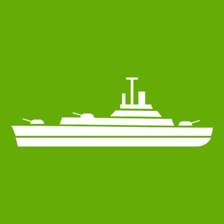 Warship icon green