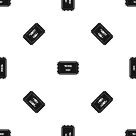 traffic warden: Parking ticket pattern seamless black Illustration