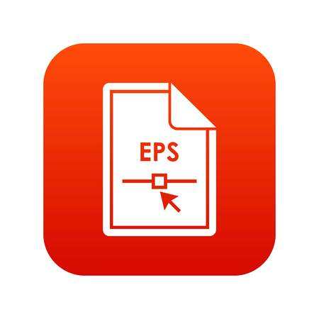 File EPS icon digital red for any design isolated on white vector illustration