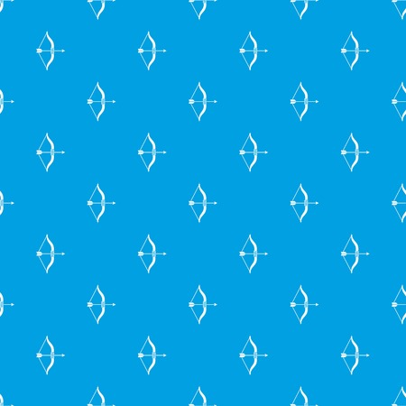 Bow and arrow pattern repeat seamless in blue color for any design. Vector geometric illustration Illustration