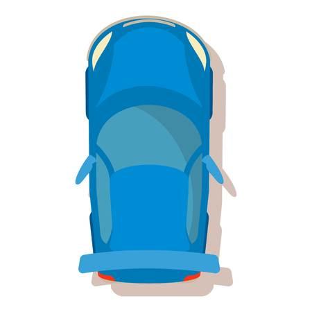 Blue car icon. Cartoon illustration of blue car vector icon for web Illustration