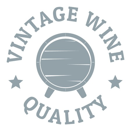 Vintage wine logo. Simple illustration of vintage wine vector logo for web Illustration
