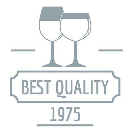 Wineglass logo. Simple illustration of wineglass vector logo for web Stock Vector - 88593629