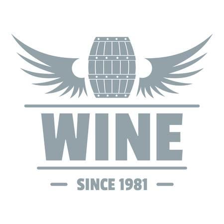 Wine barrel logo. Simple illustration of wine barrel vector logo for web