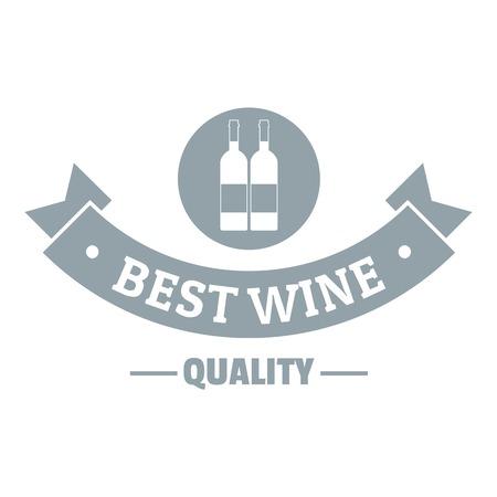 Wine bar logo. Simple illustration of wine bar vector logo for web