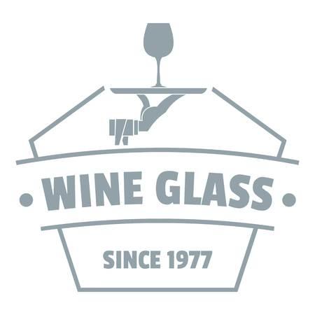 Wine glass logo, simple gray style