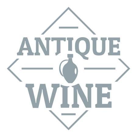 Antique wine logo, simple gray style