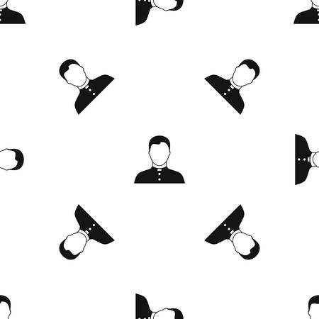 Pastor pattern seamless black