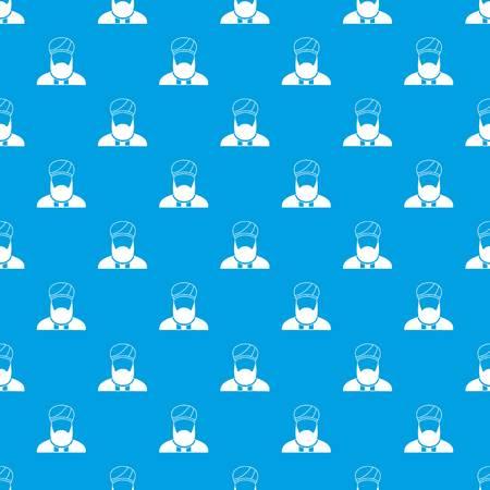 회교도 설교자 패턴 원활한 파란색 일러스트