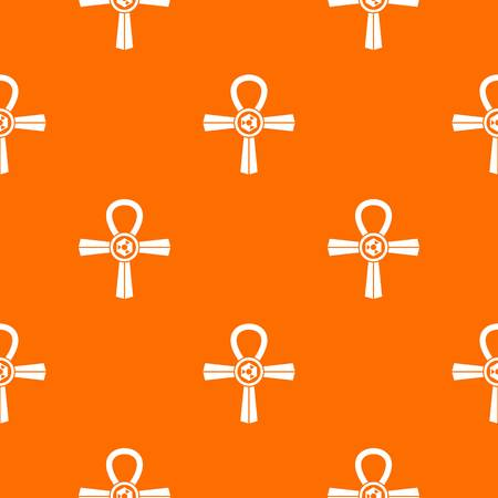 Egypt Ankh symbol pattern seamless