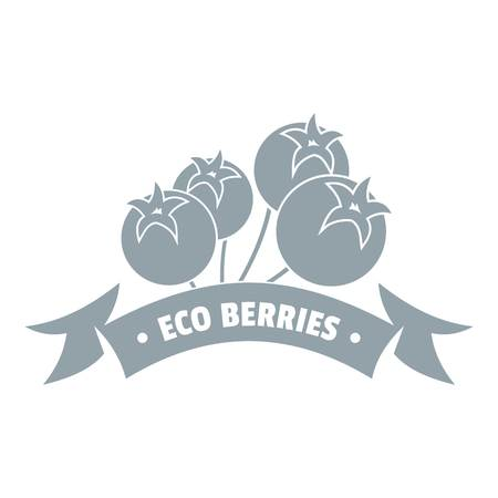 Juice berries logo, simple gray style