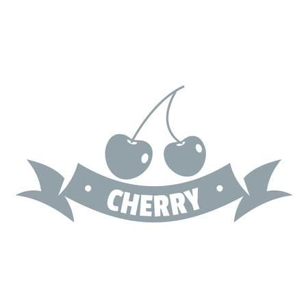 Logo Cerise, style gris simple