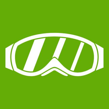 Glasses for snowboarding icon green
